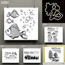 AZSG Goldfish Merry Christmas Transparent Clear Stamp for DIY Scrapbooking/photo Album Decorative Sheets 14*14cm