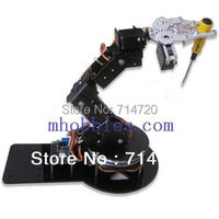 robot arm as 6 DOF aluminium clamp claw mount kit with servos and 32 road servos controller