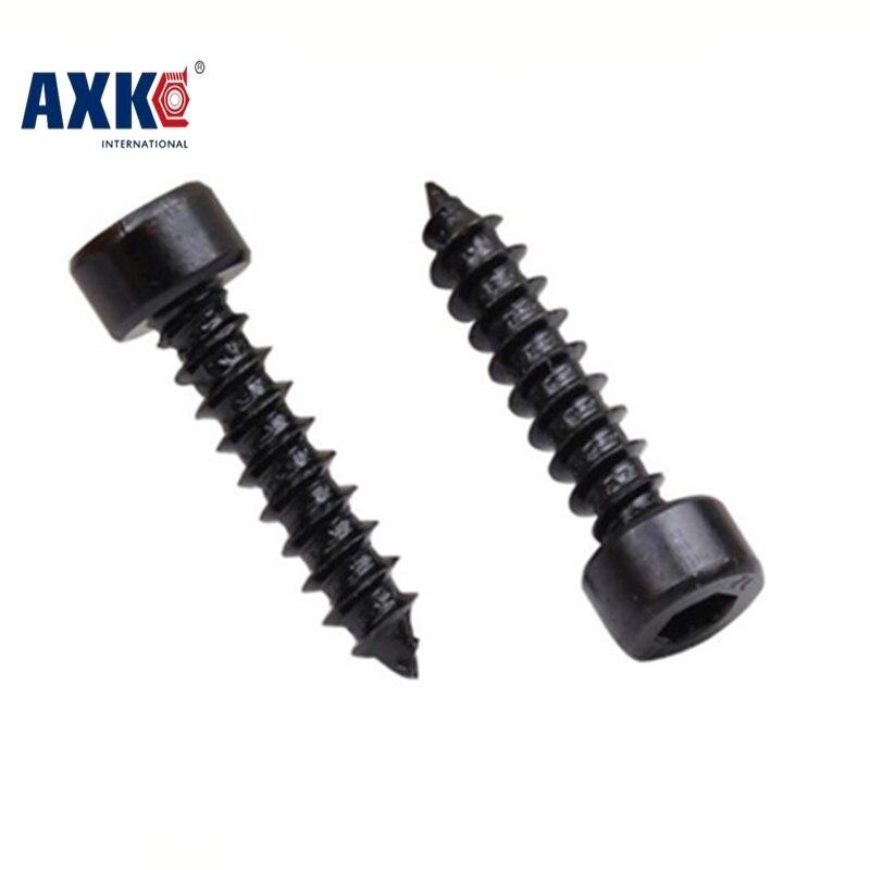 50Pcs M2 M2.6 M3 HA Black Cylinder Head Hexagon Head Self-tapping Screws Cup Furniture Sound Sharp Screws M2 M2.6 M3 niko 50pcs chrome single coil pickup screws