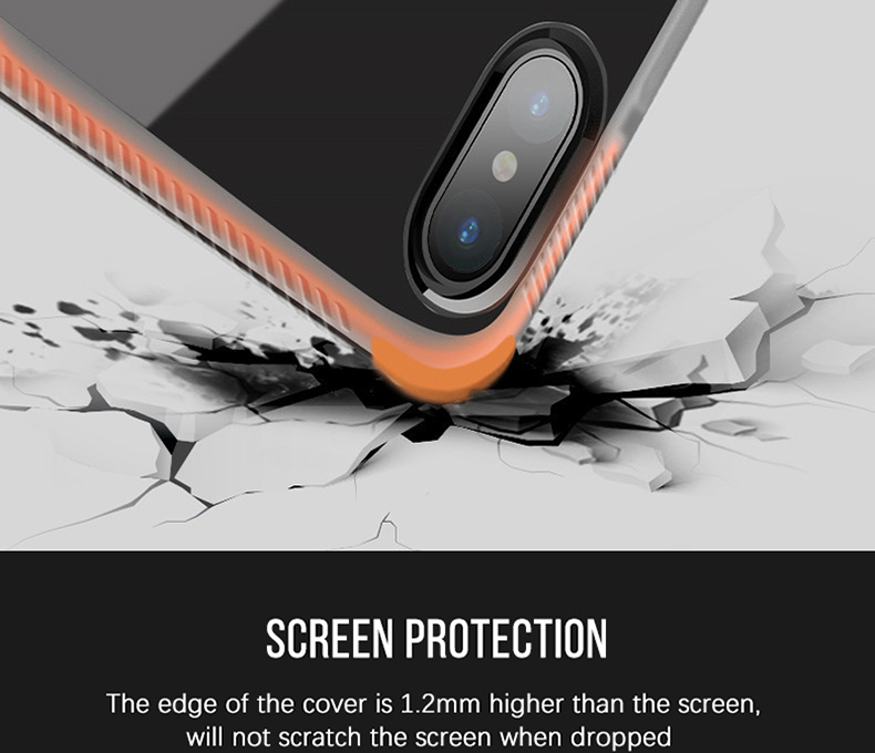 Military grade Anti-knock Case For iPhone X iPhone 7 case soft clear Transparent 2 in 1 TPU+TPE Cover for iPhone 6 6s 7 8 plus (10)