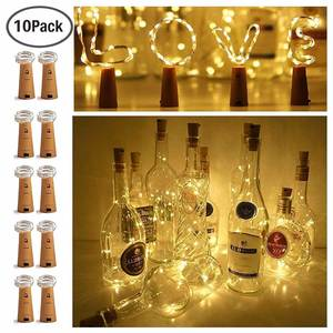 Wire-String-Lights Wine-Bottle Christmas Halloween Party Copper Wedding-Festival 2M