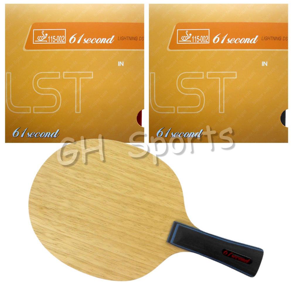 Pro Table Tennis PingPong Combo Racket 61second 3003 Blade with 2x Lightning DS LST Rubbers Long shakehand FL pro table tennis pingpong combo racket palio energy 03 with dhs tinarc 3 and 61second ds lst long shakehand fl
