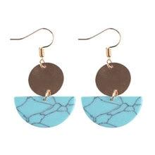 BK Fashion Earings For Women Half Round Resin Drop Dangle Acrylic Earing for Girl  Semicircle Shape Jewelry