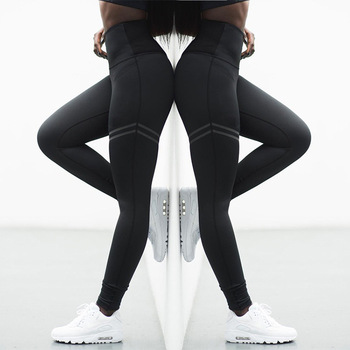 High Elastic Fitness Sport Leggings Tights Slim Running Sportswear Sports Pants Women Yoga Pants Quick Drying Training Trousers 1