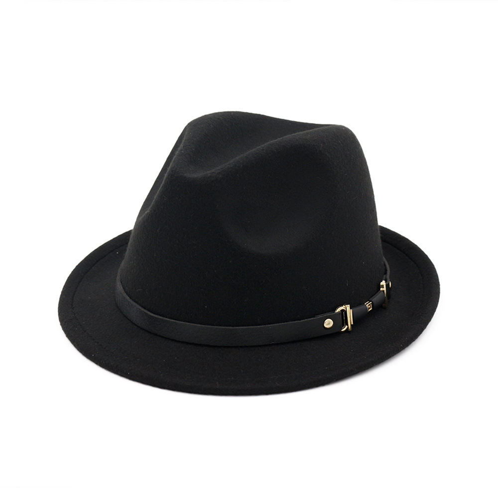 Dropwow Fashion Wool felt hats Women Men Fedora Elegant Gentleman s top Hat  Lady Autumn Winter Godfather Church Wide Brim Hat Jazz Caps d3a45f5a779