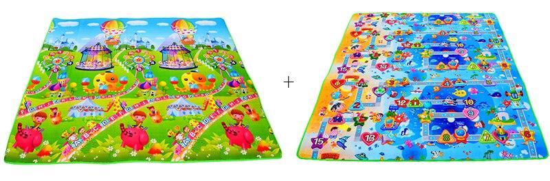 HTB1Ns9Wa.CF3KVjSZJnq6znHFXaN Baby Play Mat 0.5cm Thick Crawling Mat Double Surface Baby Carpet Rug Animal Car+Dinosaur Developing Mat for Children Game Pad