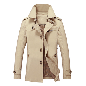 Image 2 - BOLUBAO Fashion Brand Men Trench Coats Autumn Winter Solid Color Slim Fit Mens Trench Jackets New Casual Trench Jacket Male