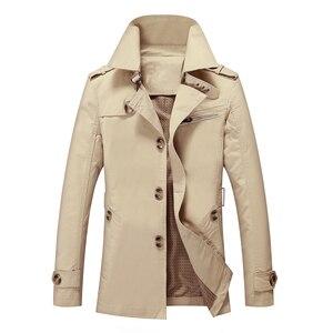 Image 2 - Мужской приталенный Тренч BOLUBAO, однотонный Повседневный Тренч, куртка на осень и зиму