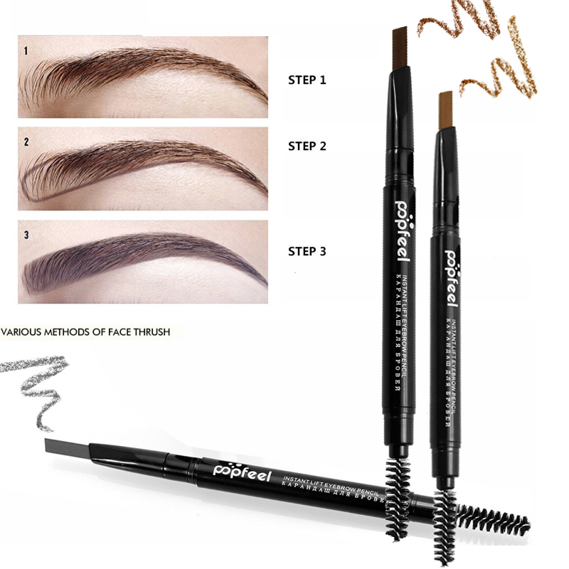Double-end Automatic Eyebrow Pencils Waterproof Long Lasting Brown Pigments Eyebrow Tattoo Makeup Eye Brow Pen Cosmetic