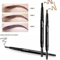 Double-end Automatic Eyebrow Pencils Waterproof Long Lasting Brown Pigments Eyebrow Tattoo Makeup Eye Brow Pen Cosmetic