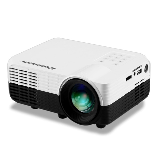 Excelvan LED2018 Home Mini Projector 640*480P Support 1080p 1200Lumens With Input AV/HDMI/USB/SD/YPbPr/3.5mm Audio in/DVB-T2