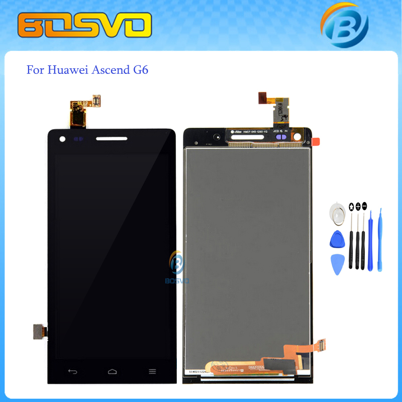 Free DHL EMS shipping Replacement LCD display with Touch screen Digitizer Assembly For Huawei Ascend g6 4.5 inch 10/pcs a lot 2013 new for iphone 5 lcd with touch screen digitizer assembly free shipping lowest price dhl