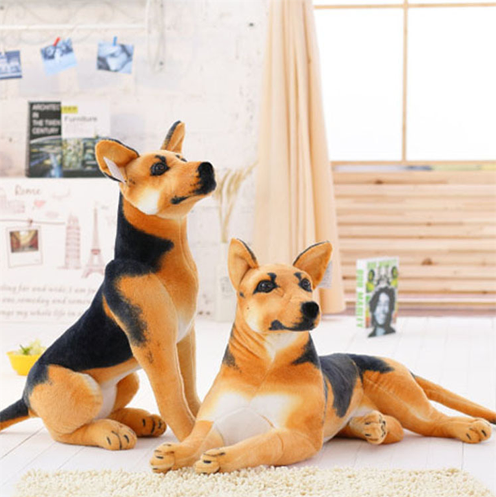 Simulation German Shepherd Dog Plush Toys Imitate Toys Sitting Puppy