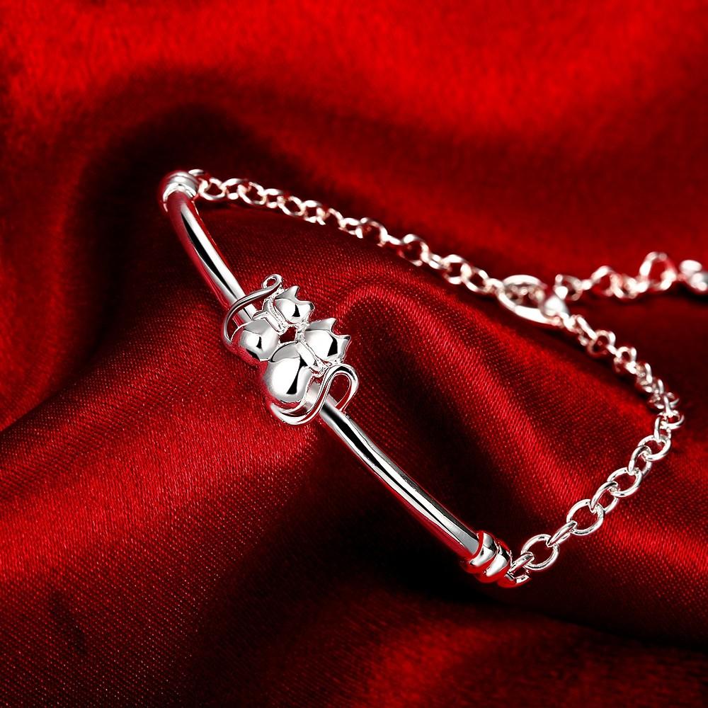 Silver Plated Cat Bracelets