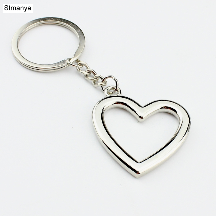 New Women Personality Heart Hollow Key Chains Men Fashion Car Key Ring For Party Gift Jewelry K2009