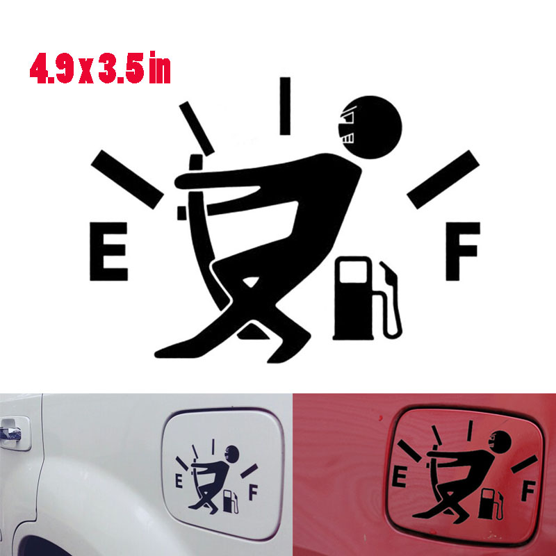 Funny Car Sticker Pull Fuel Tank Pointer Full Reflective Vinyl Fuel Tank Decal