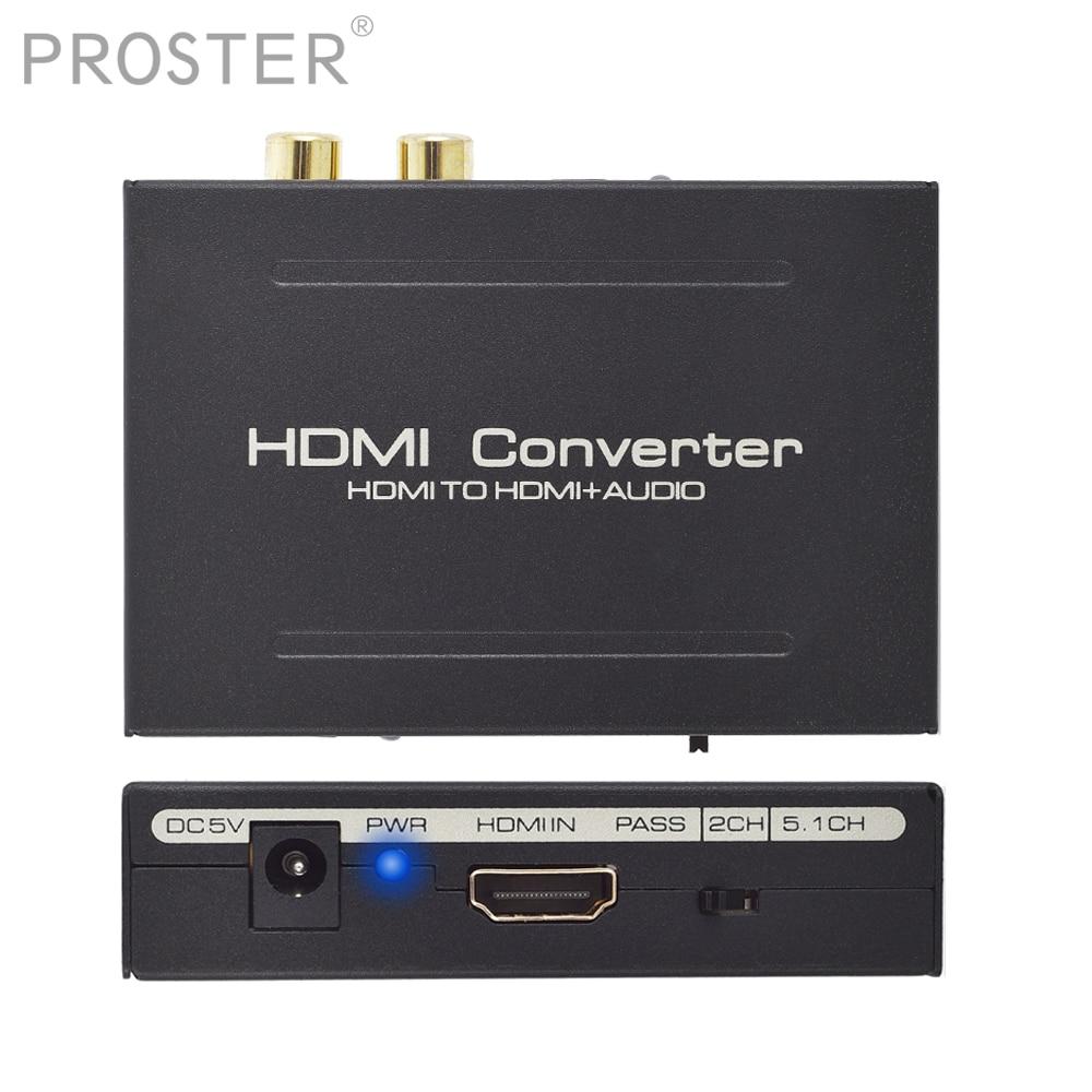 Prozor HDMI To Optical RCA L/R Audio and Video decoder HDMI 4K HDMI TO HDMI Loop 2.1CH 5.1CH Extractor Converter Audio decoderProzor HDMI To Optical RCA L/R Audio and Video decoder HDMI 4K HDMI TO HDMI Loop 2.1CH 5.1CH Extractor Converter Audio decoder