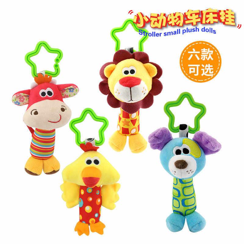 Погремушка Висячие животные мультфильм Младенческая коляска детская игрушка игрушки 0-12 месяцев плюшевые погремушки для новорожденных развивающие игрушки кровать колокольчик погремушка