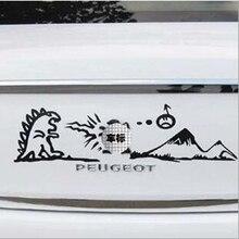 Aliauto Auto styling Leone di Combattimento Divertente Auto di Coda E La Decalcomania Accessori Per Peugeot 307 206 308 207 5008 4008 3008