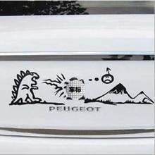 Aliauto araba styling aslan mücadele komik araba kuyruk Sticker ve çıkartması aksesuarları için Peugeot 307 206 308 207 5008 4008 3008