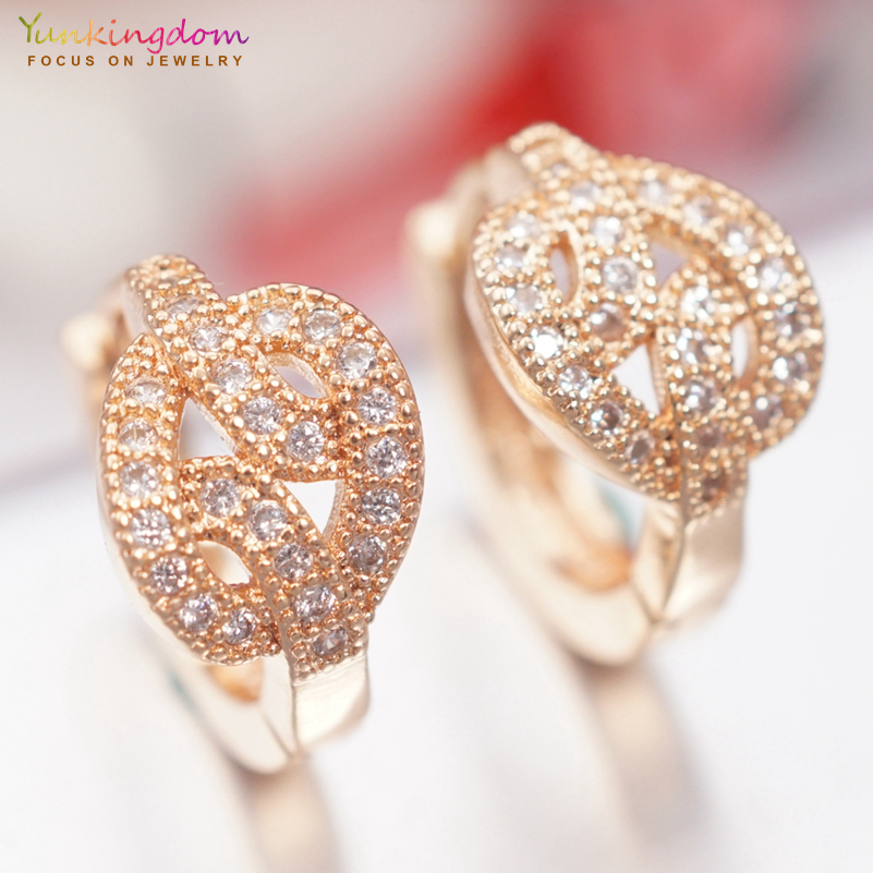 Hoop Earrings Constructive Yunkingdom Aretes Gold Color Rhinestone Crystal Small Hoop Earrings For Women Fashion Jewelry 2018 K2040