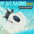 HOT New RC Mini Submarino Radio Control Remoto Barco Eléctrico de Turismo Crear Juguetes de Carreras de Alta Velocidad 27 MHz RC Profesional nave