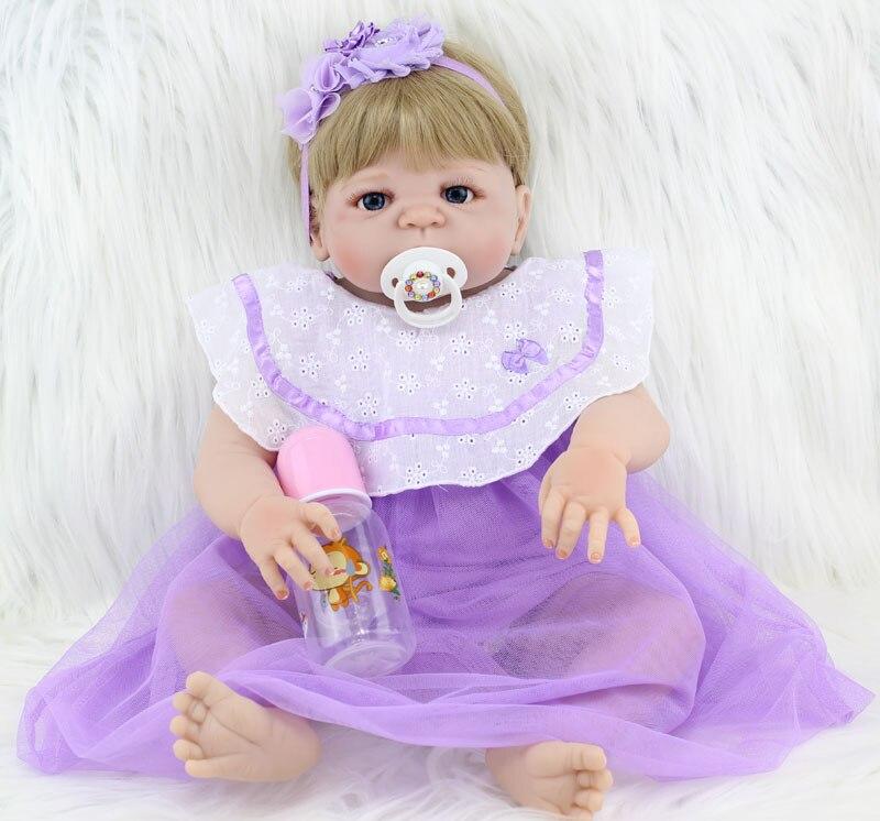 55 cm Silicone Pieno Bebe Reborn Doll Realistica 22 Del Vinile Newborn Baby Toddler Girl Principessa Impermeabile Corpo Bello Di Compleanno regalo55 cm Silicone Pieno Bebe Reborn Doll Realistica 22 Del Vinile Newborn Baby Toddler Girl Principessa Impermeabile Corpo Bello Di Compleanno regalo