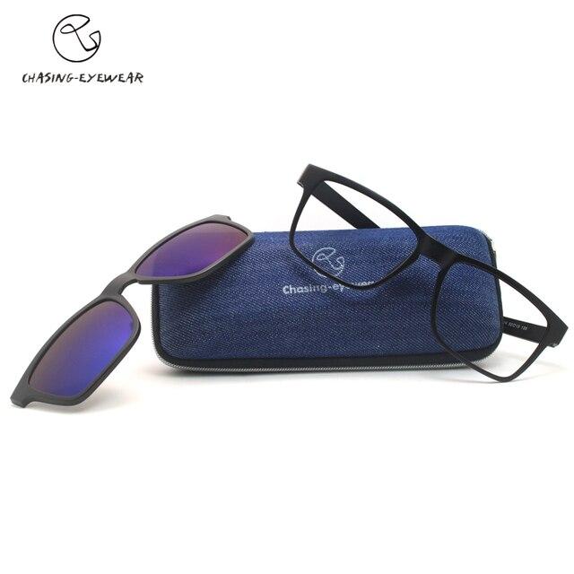 2016 Highest quality TR90 frame eyeglasses magnets UV polarized sunglasses male myopia women men glasses frame CS2014S