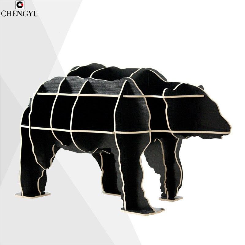 Современный творческий сборки журналы Polar Bear sidedesk деревянные полки бытовой Мебель столик 75*60*130 см