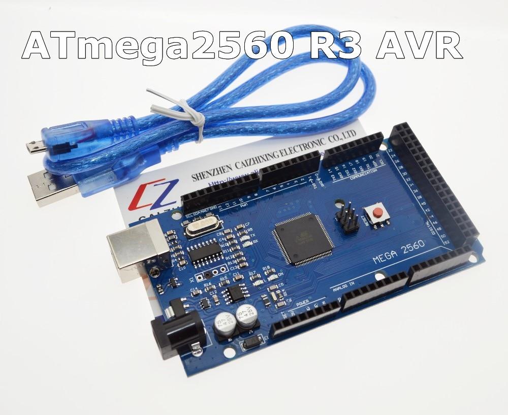 Envío gratuito MEGA 2560 R3 ATmega2560 R3 AVR USB board + Cable USB para arduino 2560 MEGA2560 R3 que somos el fabricante