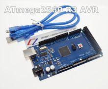 Placa usb avr para arduino, frete grátis no mega 2560 r3 atmega2560 r3 + cabo usb grátis para arduino 2560 mega2560 r3 somos o fabricante