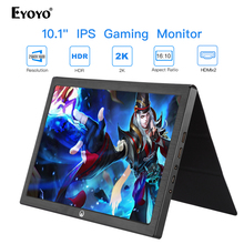 цена на 10 inch Portable HDMI Gaming Monitor IPS LCD LED Display 2k for PC Laptop Compatible pantalla PS4 Xbox one PS4 Raspberry Pi USB