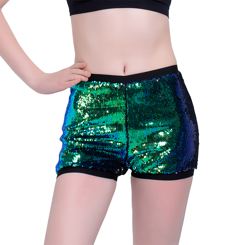 Causal Fitness Shorts High Waist Shiny Sequins Shorts For Women Plus Size 2018 Summer Ladies Sexy Paillette Pole Dance Shorts
