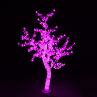 Outdoor Waterproof Artificial 1.5M Led Cherry Blossom Tree Lamp 480LEDs Pink Christmas Tree Light for Home Festival Decoration