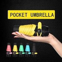 Mini Pocket Donne Ombrelli Parasole Pieghevole Maschio Umbrella Pioggia Donne Anti UV Guarda Chuva sombrinha sole paraguas parapluie