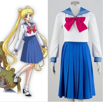 2019 New Anime Sailor Moon Cosplay Costume Sailor Moon Uniforms Carnaval/Halloween Costumes for Women/Kids Custom Any Size 1
