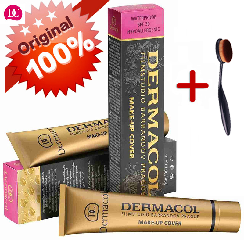 Dermacol Brand High Quality Concealer Liquid Foundation Cover Freckles Acne Marks Waterproof Professional Primer Cosmetic Makeup недорого