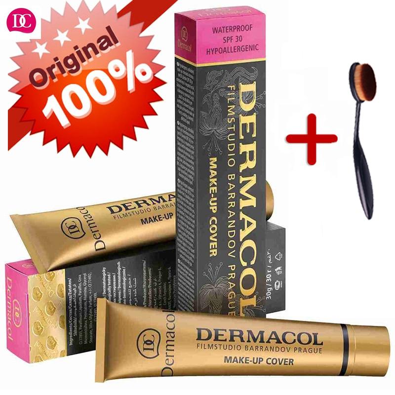 Dermacol бренд высокое качество Корректоры для лица жидкости Основа для макияжа лица крышка веснушки акне Знаки Водонепроницаемый Профессиональный Праймеры косметический Макияж