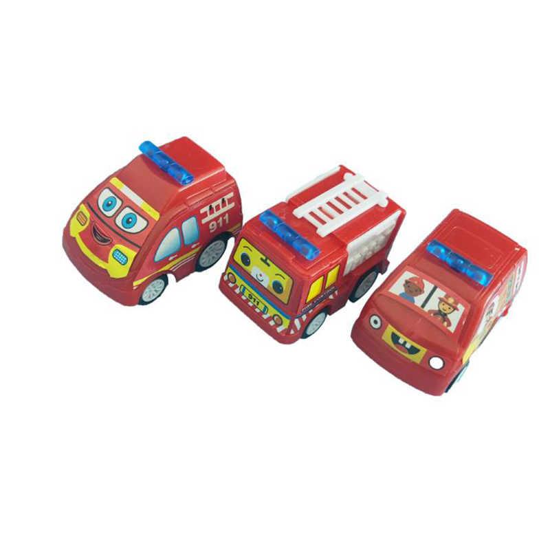6Pcs Menarik Kembali Mobil Mainan Set Mensimulasikan Trailer Inersia Truk Ras Anak-anak Mobil Mini Teknik Model Mobil Anak inersia Hadiah Mainan