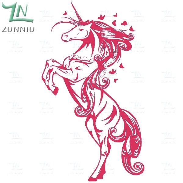 ZN G009 Unicorn Винилді қабырға жапсырмалар - Үйдің декоры - фото 3
