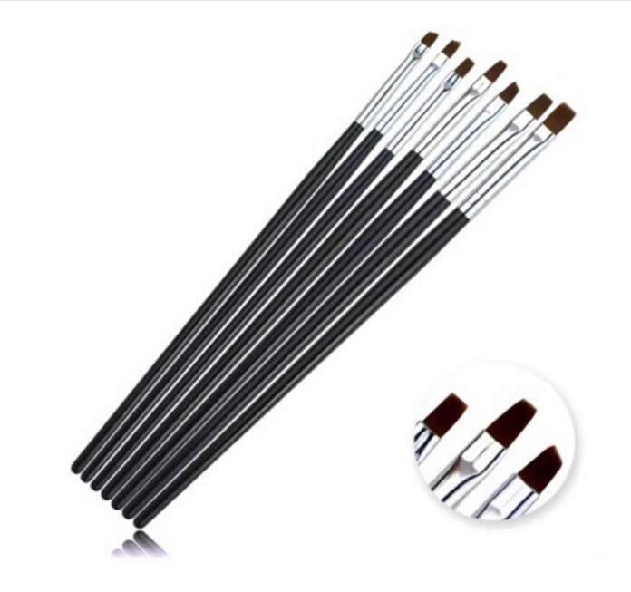 Nail Brush Set Kit Nail Art Tools Design Painting Dotting Black Pen Brushes Bundle styling For UV Nail gel polish Manicure