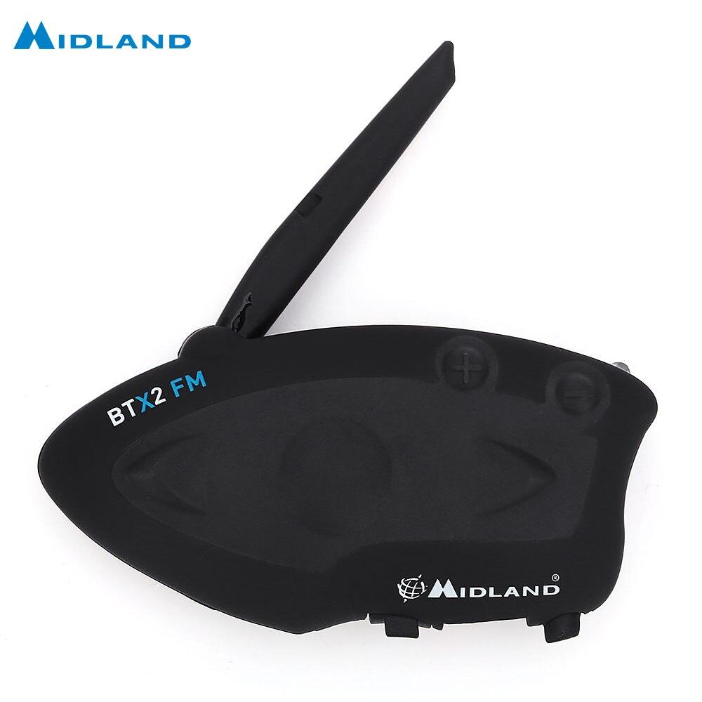 MIDLAND BTX2 FM Moto Bluetooth Interphone Casque Casque 800 M Multi-utilisateur Inter-téléphone Communiquer au plus 4 personnes