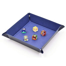 Foldable Storage Box PU Leather Quadrilateral Tray for Dice Table Games Key Wallet Coin Box Tray Desktop Storage Box(China)