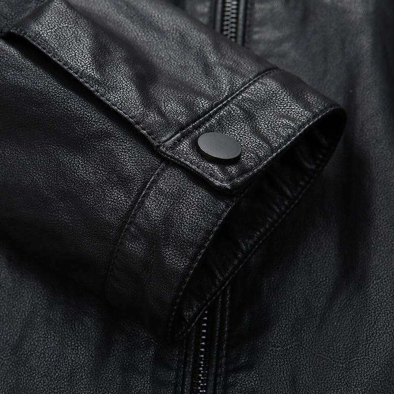 8XL 6XL 5XL Männer echtes leder jacke schaffell 2018 neue frühling und herbst hübsche schlanke zipper männlichen motorrad leder jacke