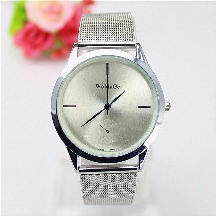 2018 Fashion Brand Womage Watch Women Luxury Dress Mesh Steel Watches Casual Ladies Quartz Rose Gold Female Man Lover Clocks