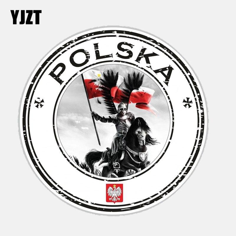 YJZT 11.2CM*11.2CM Accessories Round Poland Polska Husarz Decal Car Sticker 6-2681