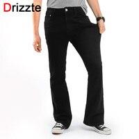 Drizzte Men S Slim Bootcut Stretch Jeans Classic Black Denim Flare Jeans Boot Cut Plus Size