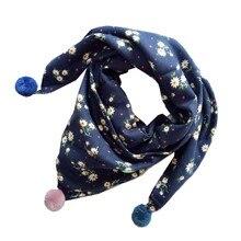 Новые хлопковые для маленьких девочек Треугольники шарфы теплый дети шейный платок Демисезонный для девочек шаль воротником для мальчиков для маленьких детей шеи шарф