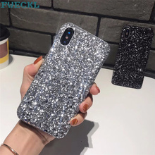 Heat Stylish 3D Glitter Shining Flash Powder case For iPhone X XS XR MAX case For iPhone 5 6 6S 7 8 Plus Phone Back cover Capa flash powder leather cover for iphone 6 plus 6s plus plus 5 5 inch w stand silver