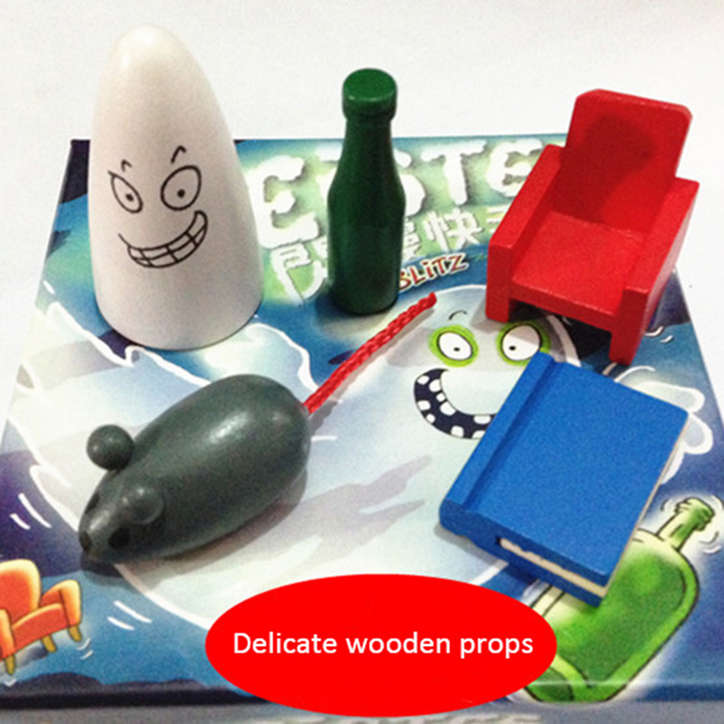 Board Game with English Instructions For Blitz1.0 geistesblitz game for Family Party Cards game